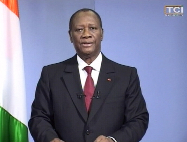 Alassane Ouattara sur TCI