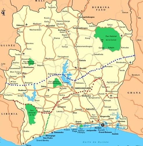 La Côte d'Ivoire divisée