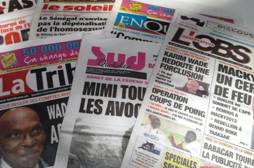 Article : Revue de la presse sénégalaise du 12 avril 2013