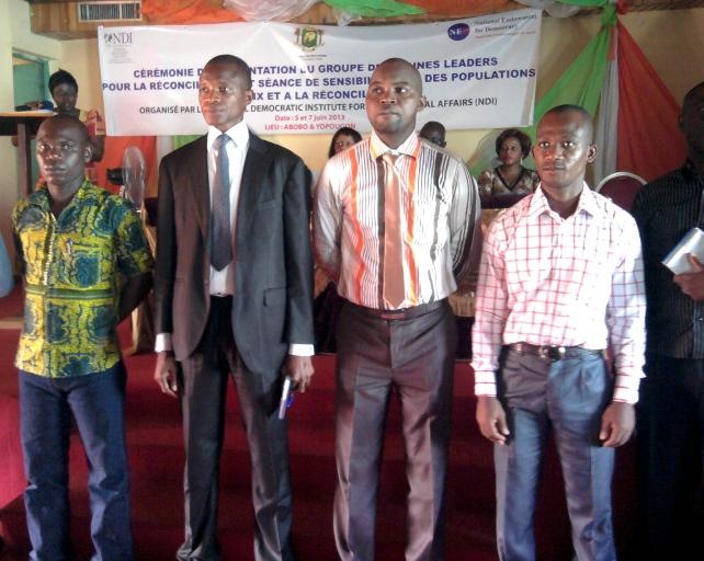 Jeunes leaders à l'étape de Yopougon