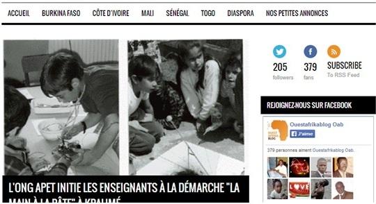 La plate forme participative de Ouest Afrika Blog