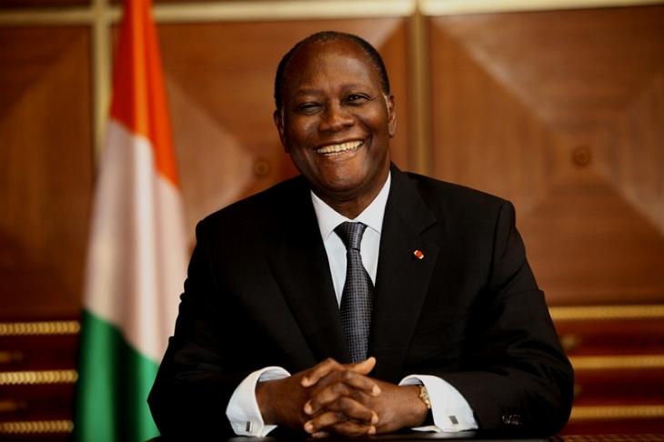 Où se trouve Alassane Ouattara ?
