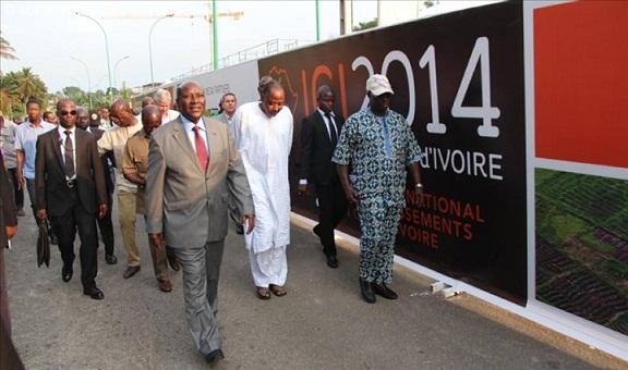 Daniel Kablan Duncan, le premier ministre ivoirien découvre le site de ICI 2014