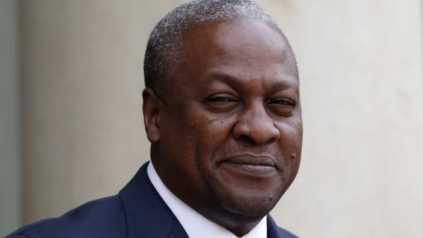 John Dramani Mahama, président du Ghana et désormais président de la conférence des chefs d'Etat et de gouvernement de la CEDEAO