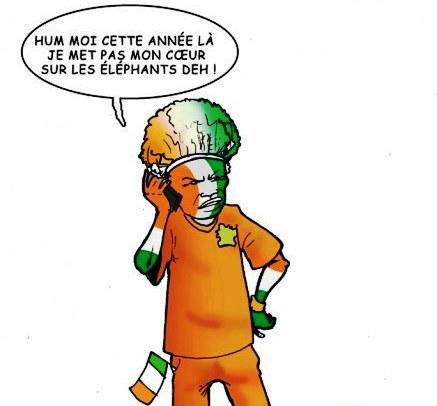 Les ivoiriens partagés entre le patriotisme et les réalités du football
