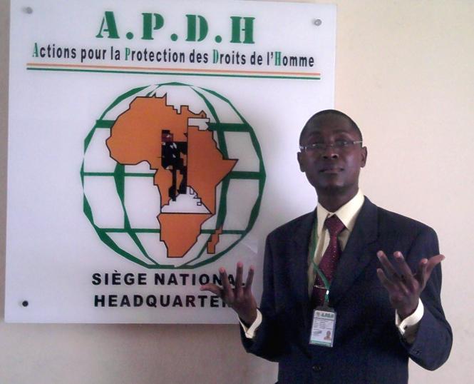 Eric Aimée Semien le président de l'APDH