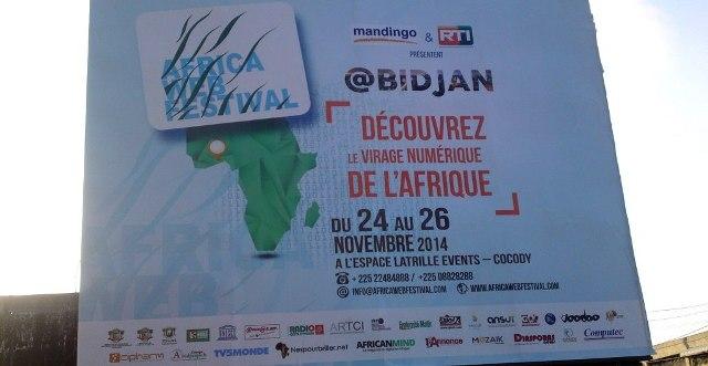 Visuel de l'Africa Web Festival