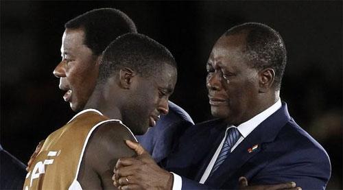 Tristesse du président ivoirien après la défaite face à la Zambie