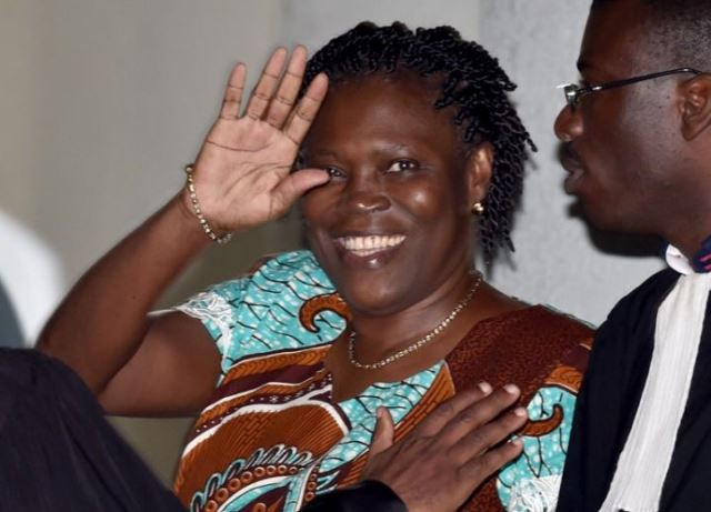 Simone Gbagbo juste avant son grand oral (AFP)
