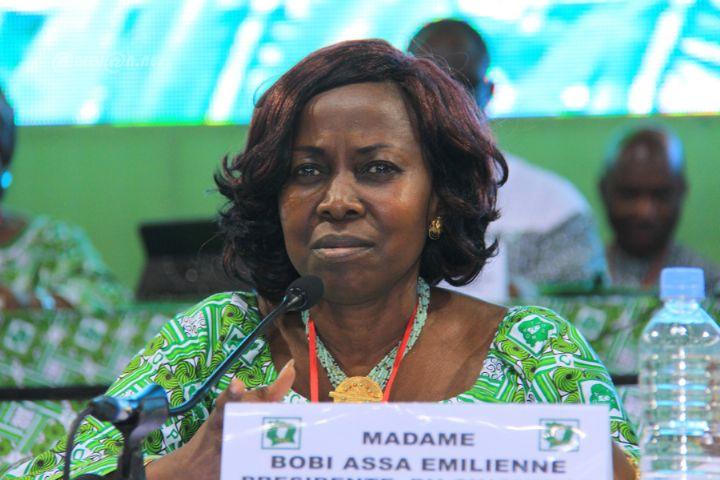 L'honorable Boby Assa Emilienne, présidente de la commission des affaires extérieures de l'Assemblée Nationale de Côte d'Ivoire