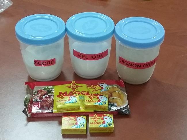 Quelques ingrédients entrant dans la confection des cubes et tablettes Maggi
